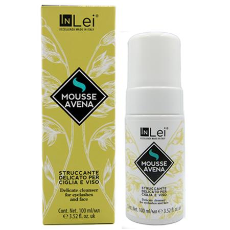Деликатный мусс для снятия макияжа с ресниц и лица InLei® Овес 100мл
