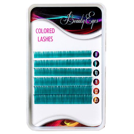Beauty Eyes Ресницы цветные NAVY 6 лент MIX  (8-13)