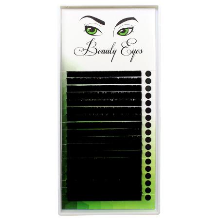 Beauty Eyes  черные ресницы  18 лент  MIX (7-14мм)