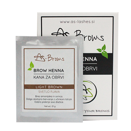 "As-Brows ""LIGHT BROWN"" Brow Henna set (1 sachets), 1g"