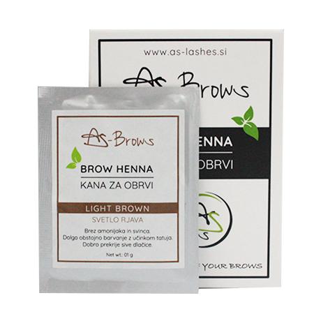 """As-Brows """"LIGHT BROWN"""" Brow Henna set (1 sachets), 1g"""