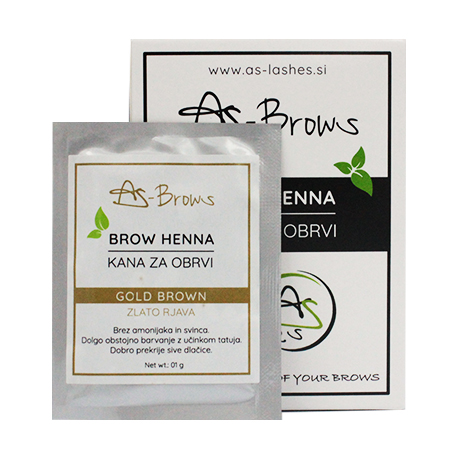 "As-Brows ""GOLDEN BROWN"" Brow Henna set (1 sachets), 1g"