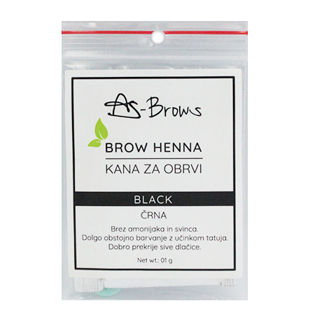 "As-Brows  ""BLACK"" Brow Henna set (1 sachets), 1g"