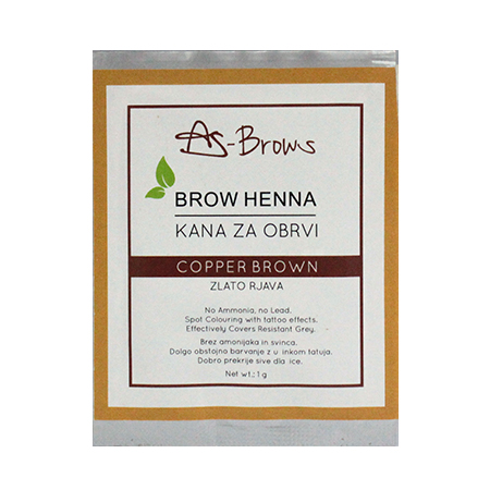 "As-Brows  ""COPPER BROWN"" Brow Henna set (1 sachets), 1g"