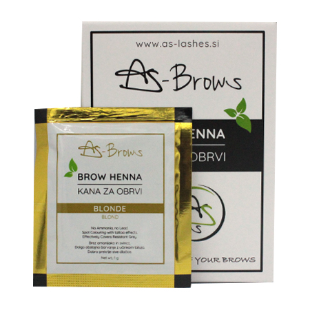 "As-Brows ""BLONDE""  Brow Henna set (1 sachets), 1g"