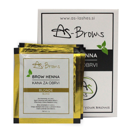 "As-Brows ""BLONDE""  Brow Henna set (3 sachets), 3g"
