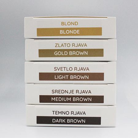 """As-Brows """"LIGHT BROWN"""" Brow Henna set (3 sachets), 3g"""