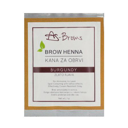 """As-Brows  """"BURGUNDY"""" Brow Henna set (1 sachets), 1g"""