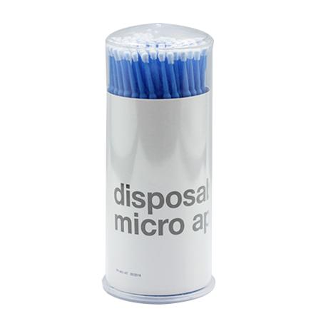 Микробраши синие, туба, 100шт в упаковке