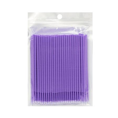 Микробраши фиолетовые, пакет, 100шт в упаковке