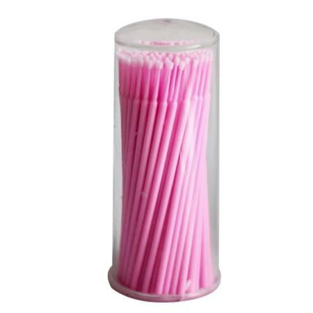 Микробраши розовые, туба, 100шт в упаковке