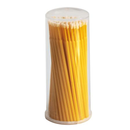 Микробраши желтые, туба, 100шт в упаковке