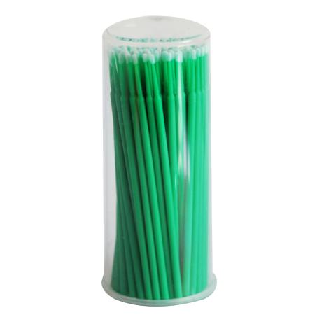 Микробраши зеленые, туба, 100шт в упаковке