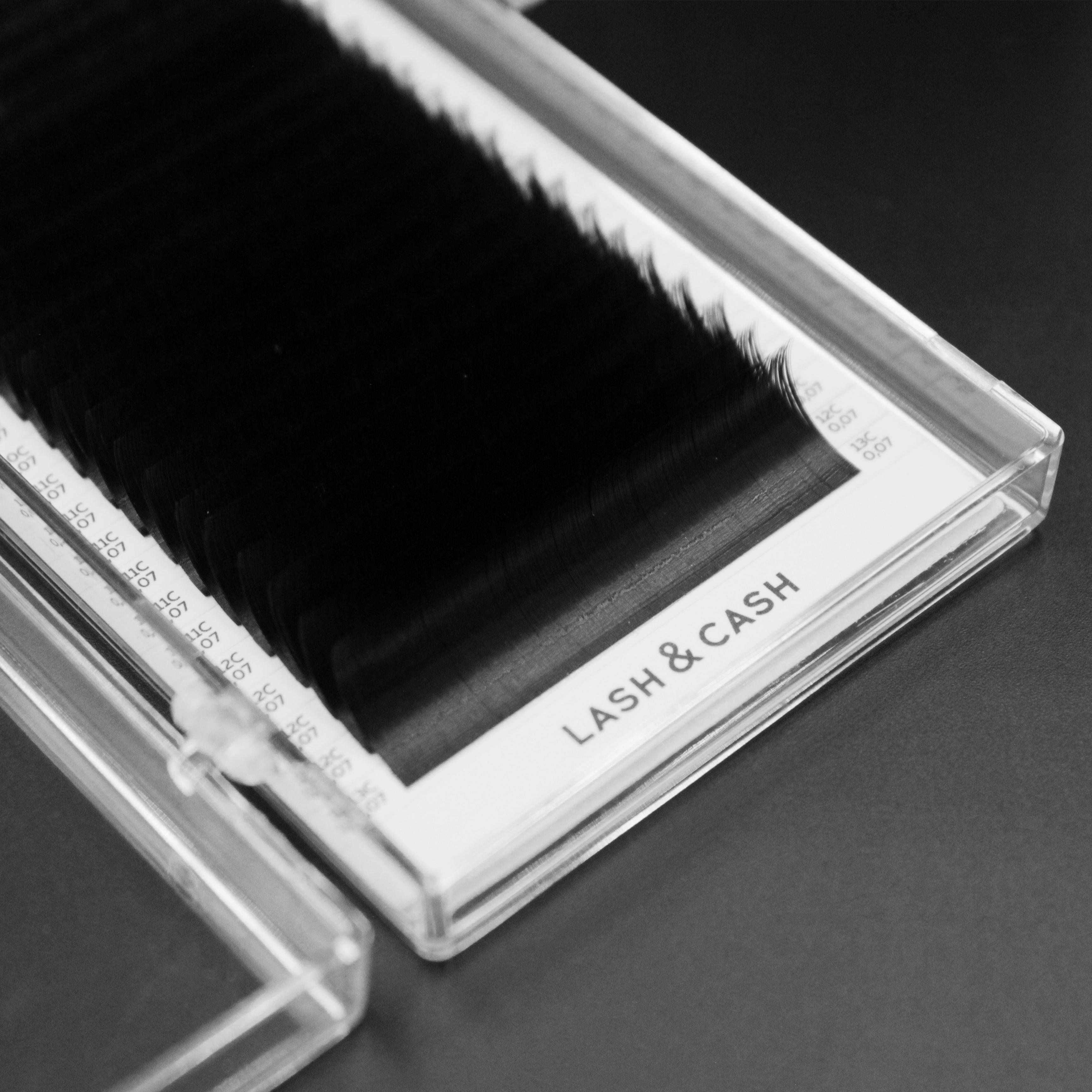 LASH&CASH, ресницы чёрные, mix (7-13), 28 линий