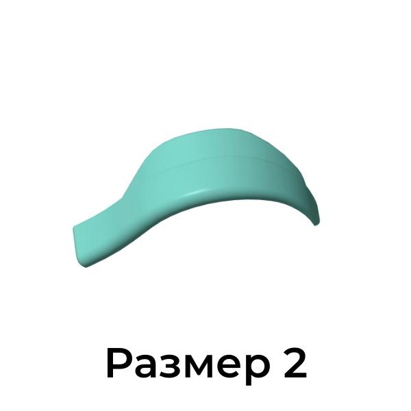 Валики для ламинирования и биозавивки ресниц Кати Виноградовой  размер 2, 1 пара